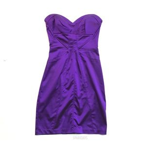 BEBE Purple Satin Silky Mini Dress | Small